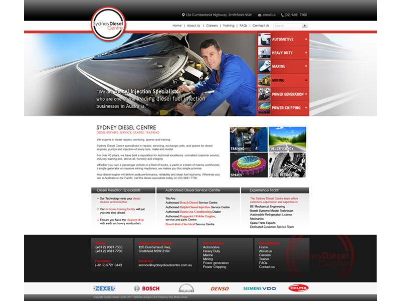 sydney diesel website design