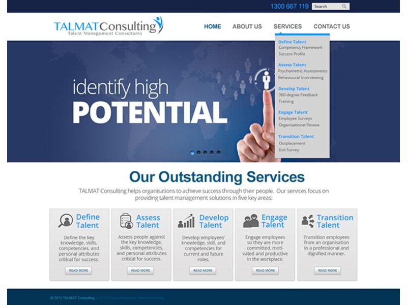 talmat consulting website design