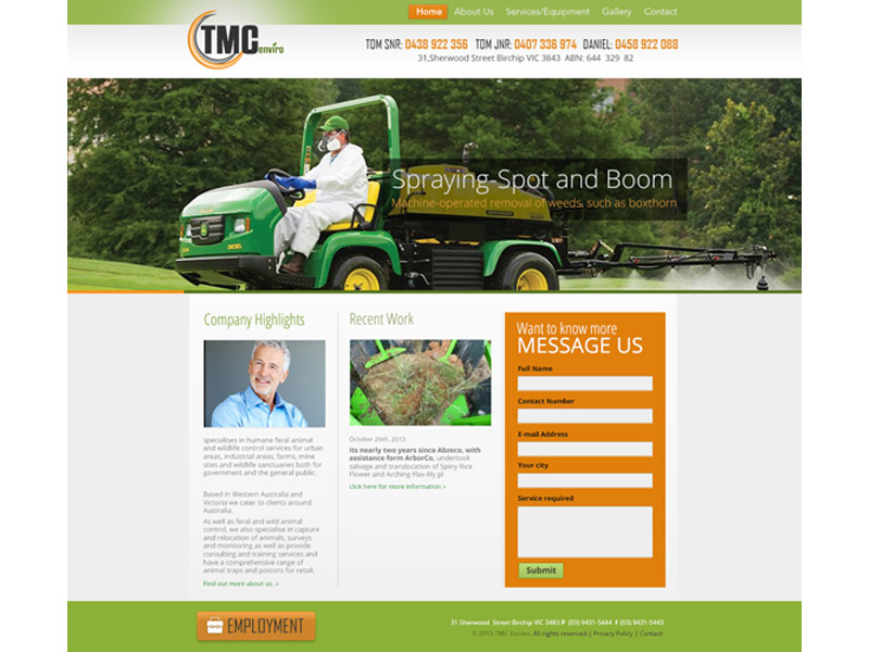 tmc enviro website design