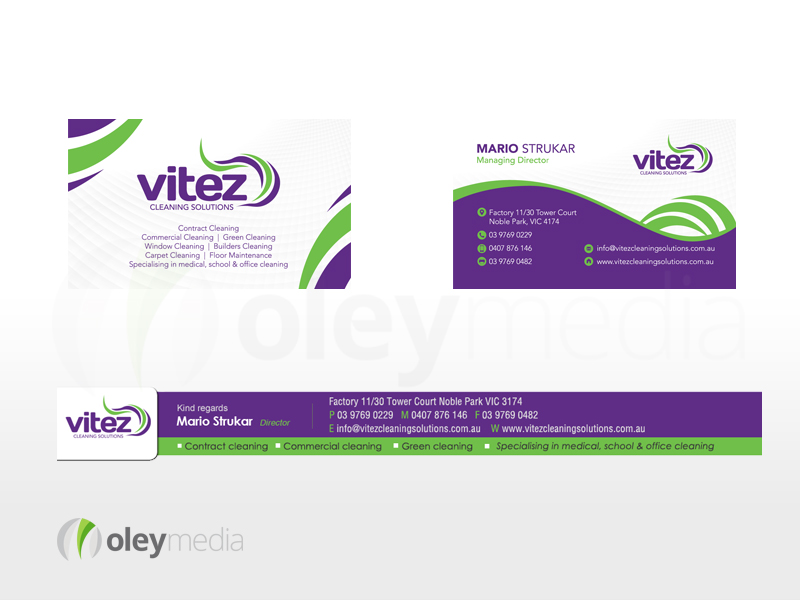 Vitez Cleaning Solutions Corporate Identity Design