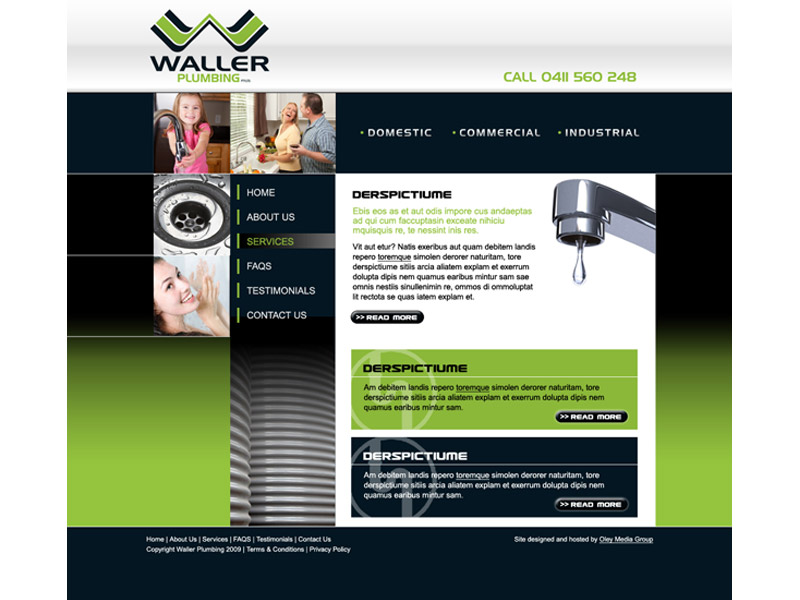 waller plumbing website design