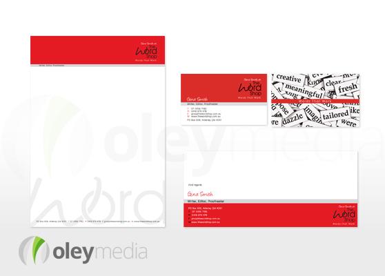 word shop corporate identity design