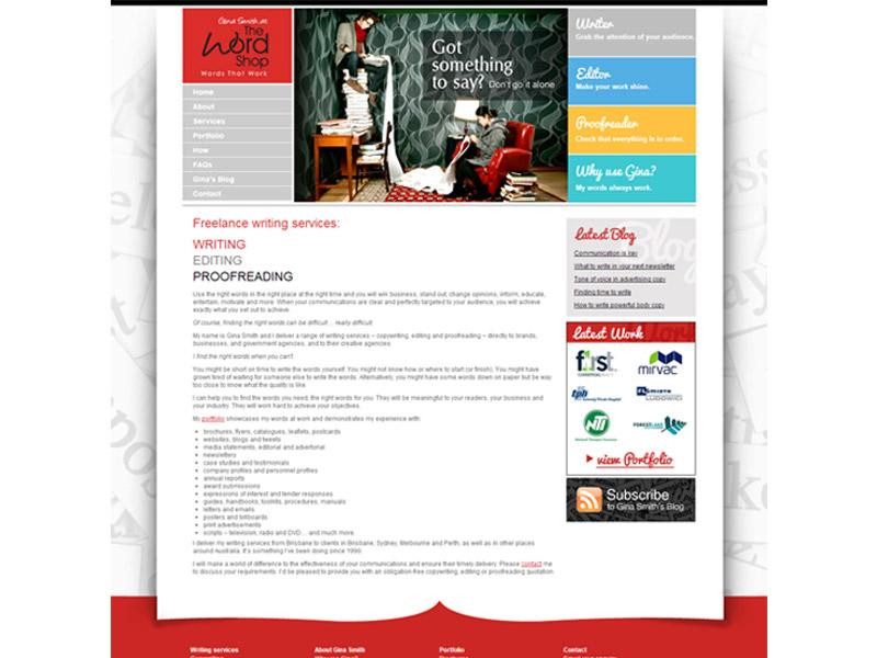 word shop website design